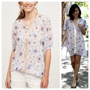 •ONE SEPTEMBER• Lyla Sheer Floral Sequin Tunic